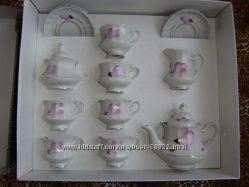 Новый чайный сервис на 6 персон в подарочной коробке