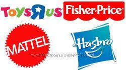 TOYSRUS, MATTEL минус 5, FISHER-PRICE минус 5, HASBRO минус 5
