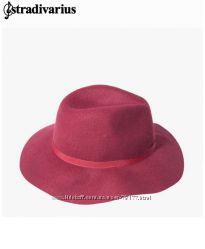 Стильная новая шляпа stradivarius. Модный цвет бордо