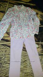 Джинсы Waikiki , блузка Sela , велюровый джемпер 6-7 лет