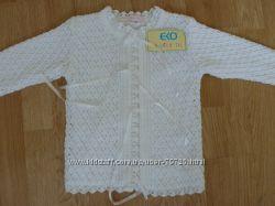 Нарядная ажурная кофточка для девочки на рост 98-104