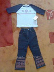 Двойка джинсы и кофточка Children colectionр. 104-110см. Джинсы ярко сине