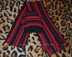 Шерстяной берет и шарф