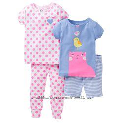 Большой выбор пижамок Carters на девочку 4-5 лет