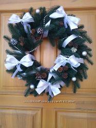 Різдвяні віночки з литої ялинки ручної роботи