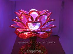 Светильник - ночник Золотой Лотос цветок c музыкой проектор северное сияние