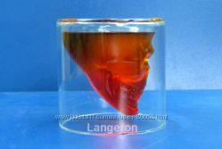 Кружка стакан Череп стопка подарок прикол в форме черепа рюмка