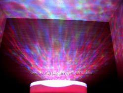 Ночник - проектор Океан разноцветные волны океана волн звездное небо  нал