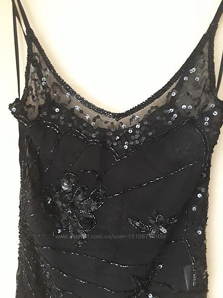 Новая женская блузка топ в бисере и пайетках Pia Rossini Франция