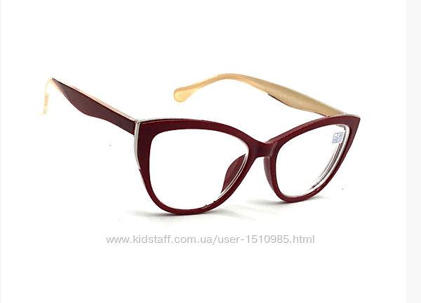 Женские очки для коррекции зрения лисички с диоптриями