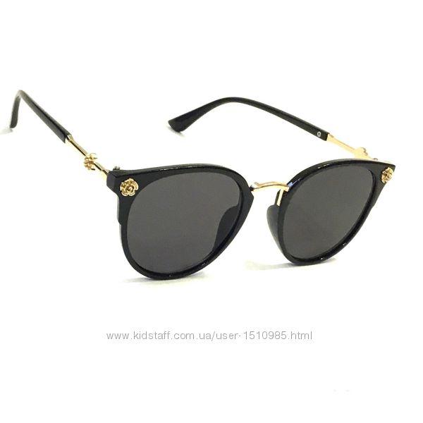 Солнецащитные очки, лисички, круглые