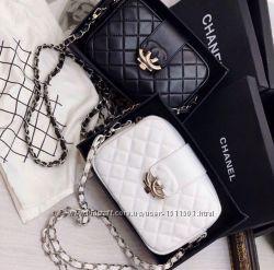 Кожаная женская сумка Chanel Шанель