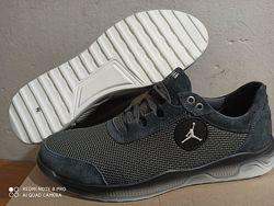 Новинка 46-50 р Jordan кроссовки мужские летние Джордан с сеткой и кожей