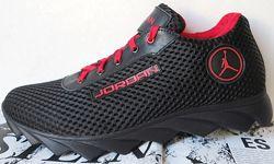 Jordan летние красные мужские спортивные кроссовки сетка кожа реплика