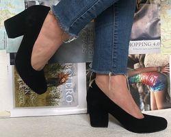 Nona женские качественные классические туфли замша кожа взуття на каблуке