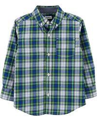 Рубашка длинный рукав хлопок в клетку  рост 99-105 см carters