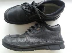 Rieker кожаные утеплённые ботинки зимние мужские