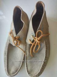 Massimo Dutti кожаные замшевые мокасины туфли