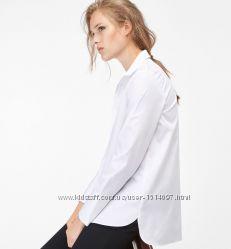 Massimo Dutti новая элегантная рубашка хлопковая блуза блузка оригинал