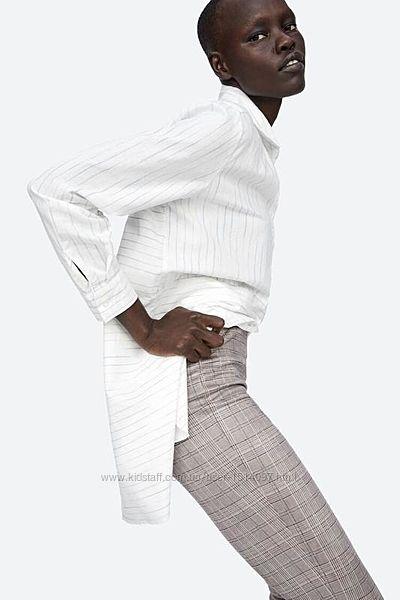 ZARA замшевые леггинсы штаны завышенной посадкой с молниями