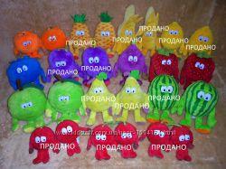 Игрушки мягкие фрукты и овощи из коллекции Goodness Gang