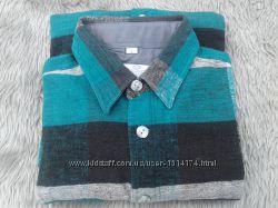 Рубашка мужская байковая тёплая в клетку, размер L