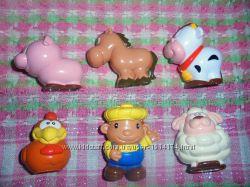 Игрушки фигурки фермер с животными и полицейские с собакой