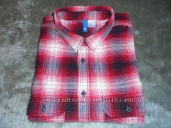 Рубашка мужская байковая тёплая в клетку, размер М