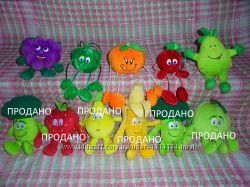 Игрушки мягкие маленькие фрукты и овощи из коллекции MINI Goodness Gang