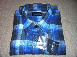 Рубашка мужская байковая тонкая в клетку, размер 45 XXL