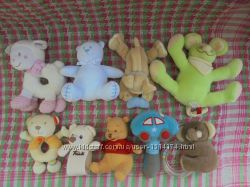 Игрушки мягкие погремушки для малышей