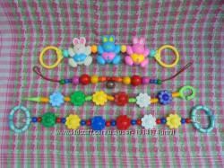 Подвески растяжки погремушки в коляску для малышей