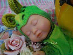 Кукла мягкая зеленая бабочка от Anne Geddes Энн Геддес , рост 23см