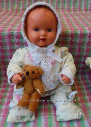 Маленькая кукла пупс Schildkr&oumlt Шильдкрет, Черепашка из целлулоида, 30см