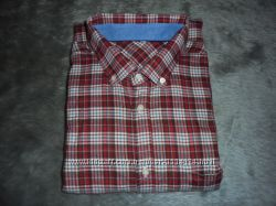 Рубашка мужская байковая тонкая в клетку, размер 45-46 XXL