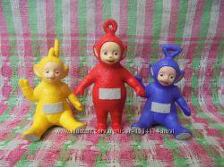 Игрушки фигурки телепузики резиновые, рост 9см
