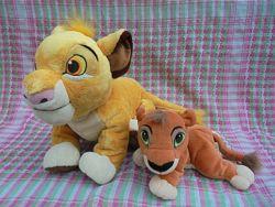 Игрушка мягкая львенок Симба из мф Король лев от Дисней Disney, 32см и23см