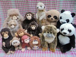 Игрушка мягкая обезьяна панда суриката коала лемур WWF Keeltoys Hansa TY