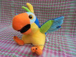 Интерактивная мягкая игрушка попугай повторюха от Dream Makers, рост 23см