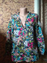 Летняя цветочная блуза, рубашка - Zara basic - 42-44рр.