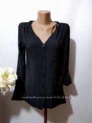 Стильная ассиметричная рубашка блузка из вискозы Atmosphere