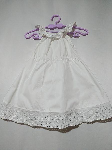 Платье с ажурной вышивкой ришелье Lupilu