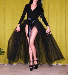 фатиновая черная юбка пачка хвост