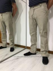 Классические мужские летние брюки, светлые джинсы, прямые штаны, M