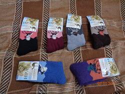 Качественные ангоровые женские термо носки на махре