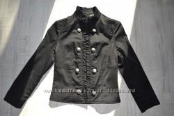 Женский черный пиджак накидка жакет