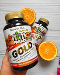 Nature&acutes Plus, Animal Parade Gold Мультивитамины и минералы, пробиотик