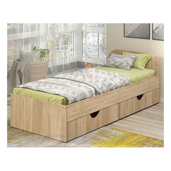 Детская и подростковая кровать Соня-1 с ящиком для белья. Одинарная кровать