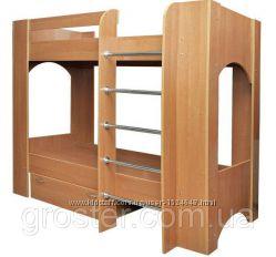 Детская двухъярусная кровать с ящиком для белья. Кровать Дуэт-2