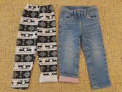 Джинсы на хб подкладке  штаны на меху
